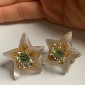 ALEXIS BITTAR lucite star clip-on earrings